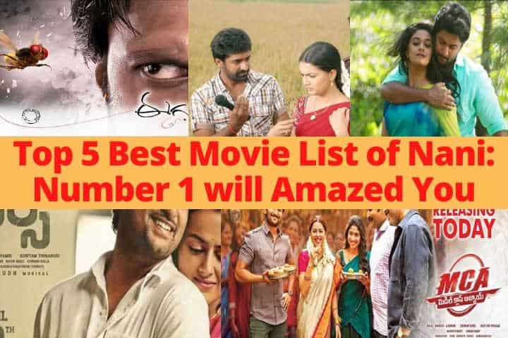 Top 5 Best Movie List of Nani