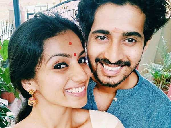 Sruthi Hariharan with her husband