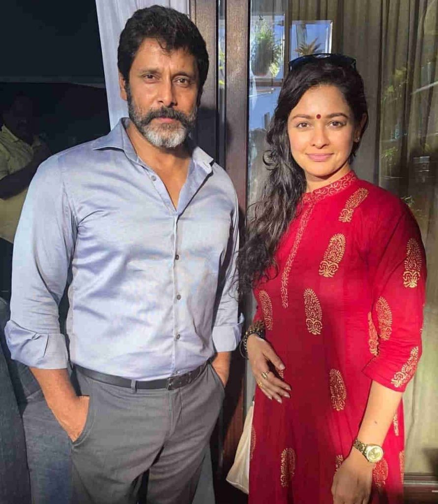 Chiyaan Vikram with his wife