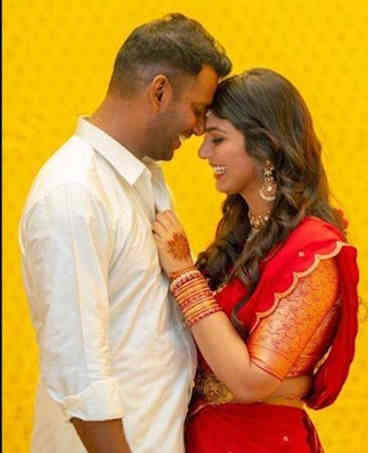 Vishal Reddy with his wife Anisha Allah Reddy