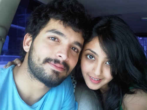 Aindrita Ray with boyfriend
